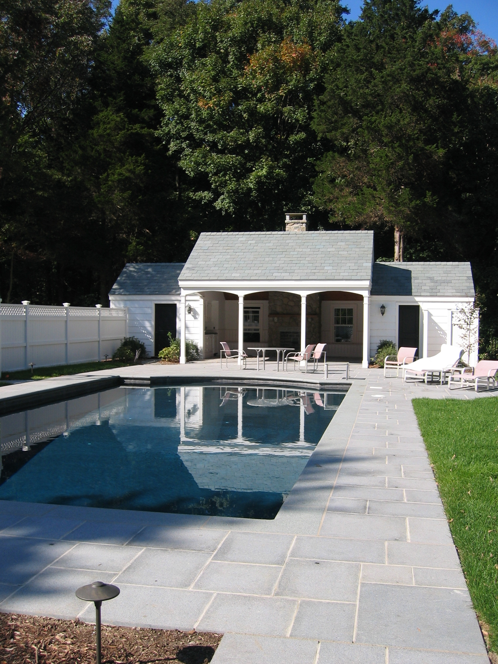 Pools pool houses country club homes for Pool and pool house