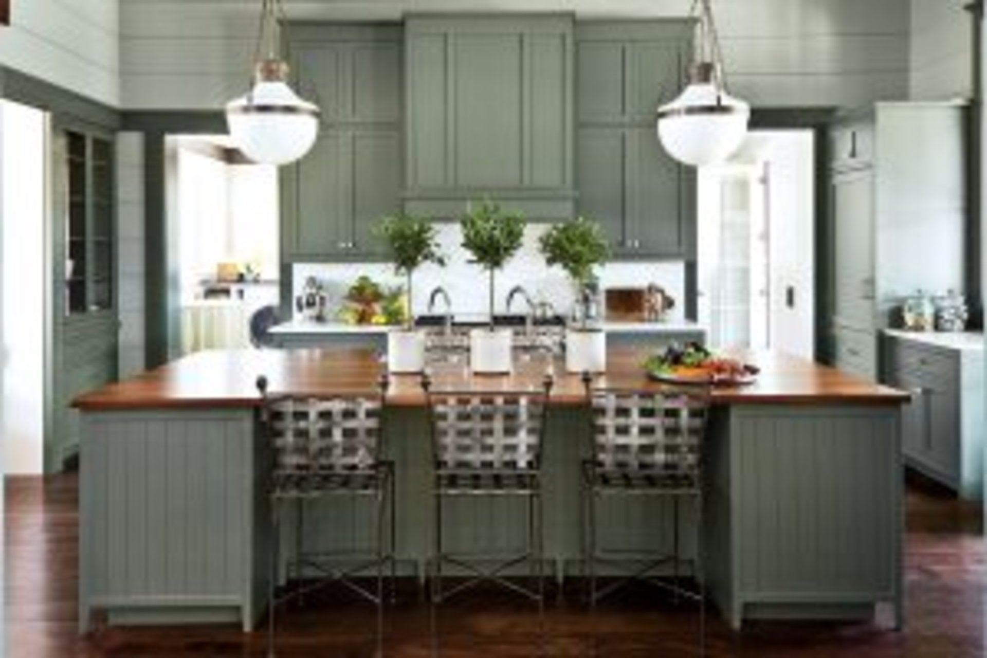 Nashville Idea House Kitchen - Decorating with Green