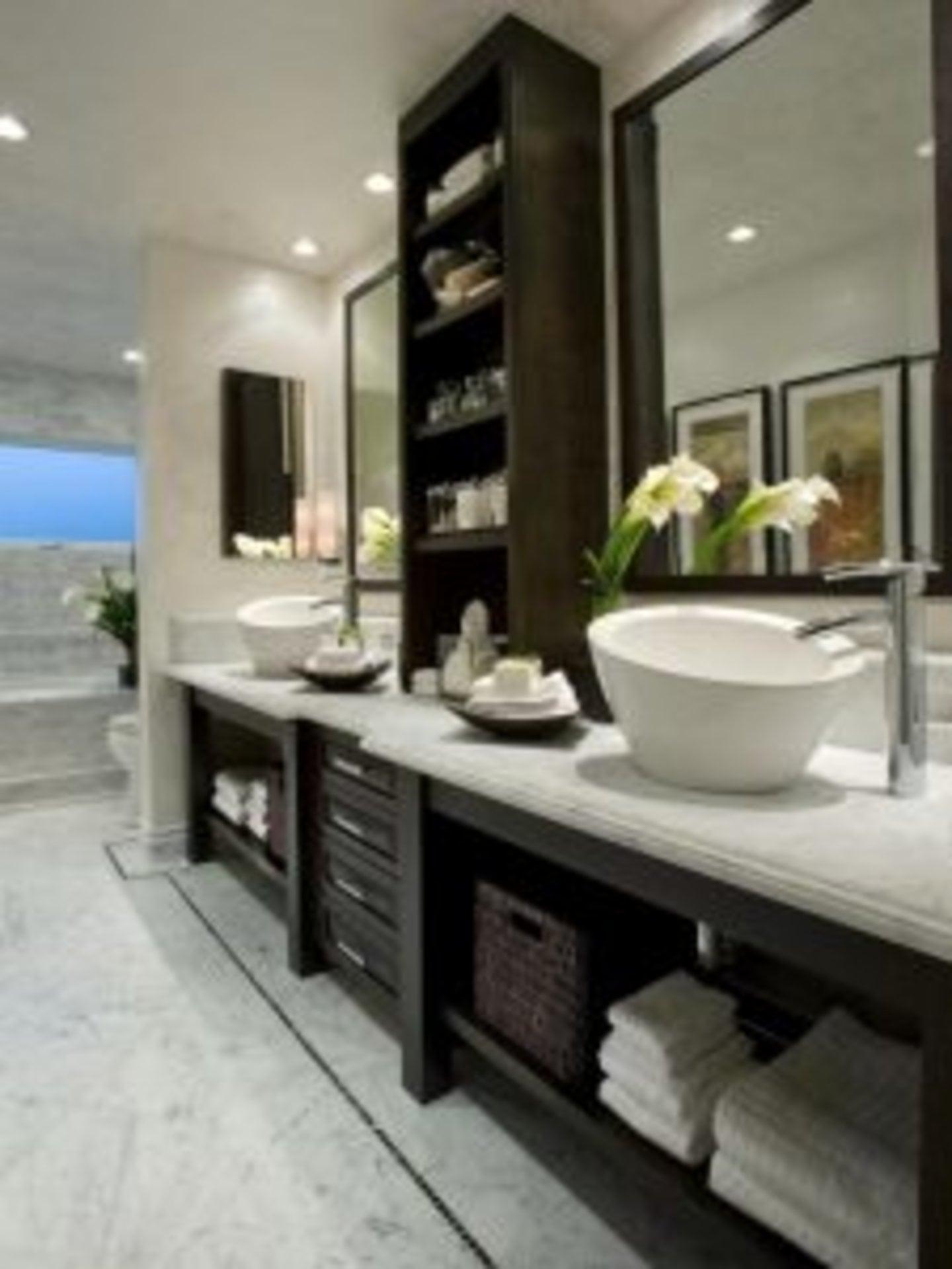 WAM Interiors bathroom vanity vessel sink