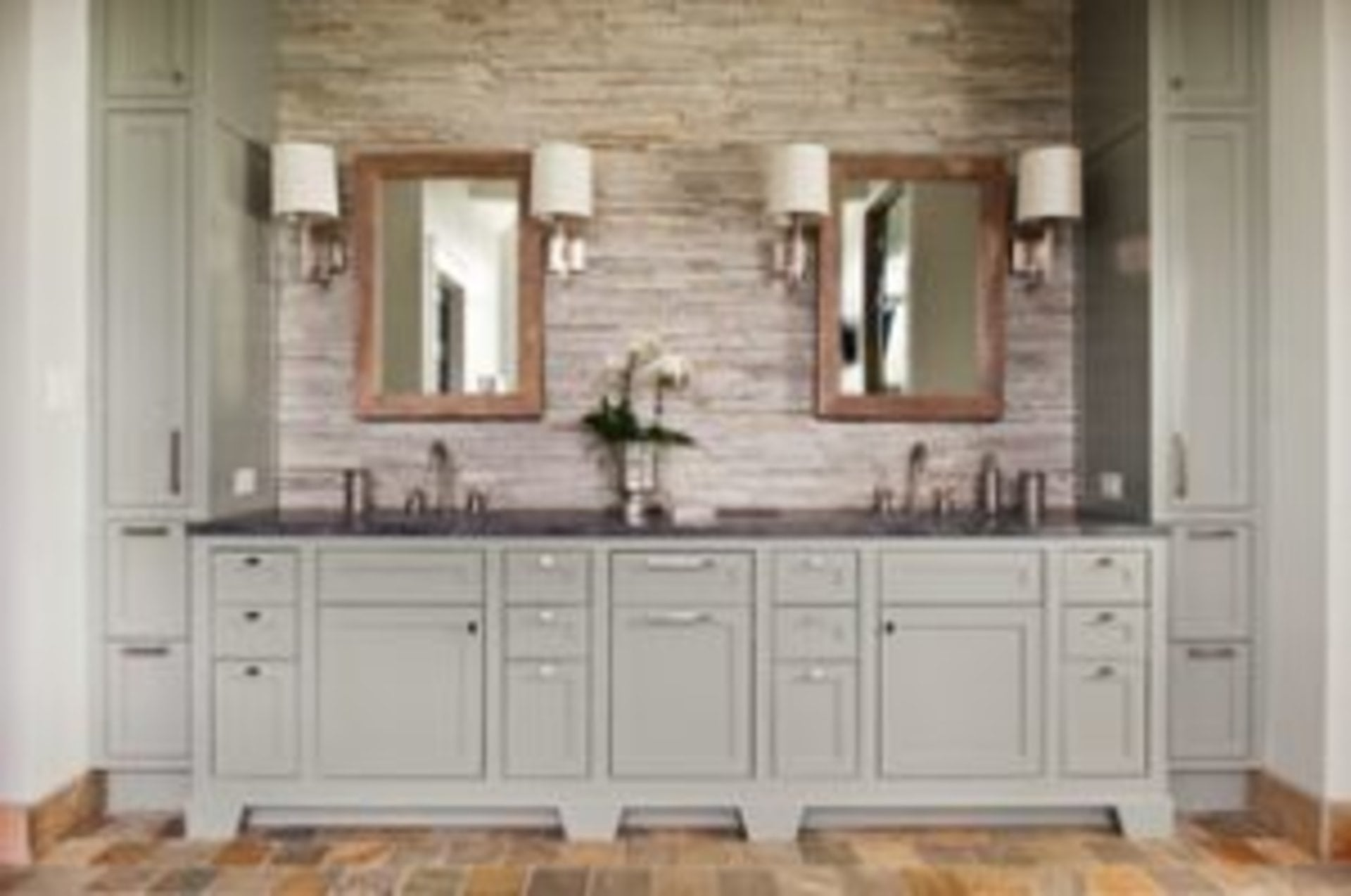 Shaker Style in the Home - Master bathroom vanity with a modern twist