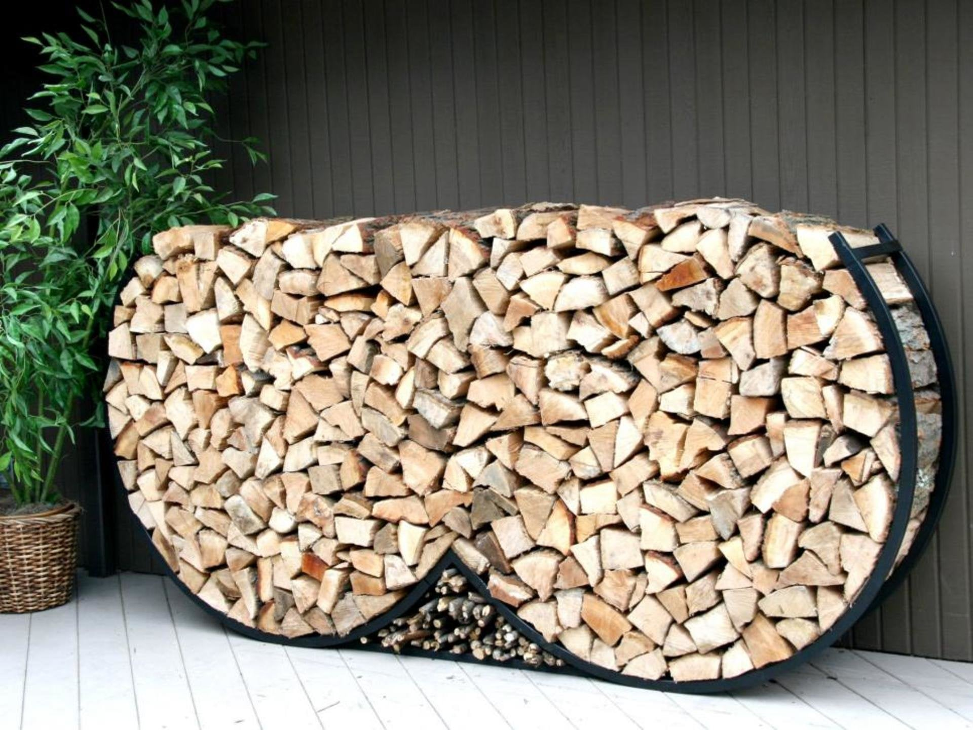 Fire Pit Wood Sculpture